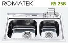 chậu rửa inox Romatek RS 25B - Giá Tốt eNoiThat