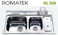 chậu rửa inox Romatek RS 26B - Giá Tốt eNoiThat