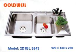 chậu inox Coldwell 2D1BL9243 - Siêu thị vật tư nội thất giá tốt