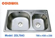 chậu inox Coldwell 2DL7843 - Siêu thị vật tư nội thất giá tốt