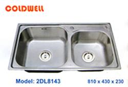 chậu inox Coldwell 2DL8143 - Siêu thị vật tư nội thất giá tốt