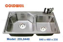chậu inox Coldwell 2DL8448 - Siêu thị vật tư nội thất giá tốt