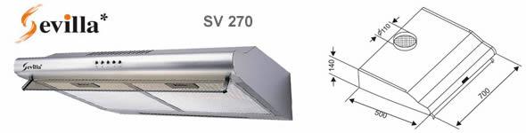 Máy hút khói Sevilla 270 - Siêu thị vật tư nội thất giá tốt