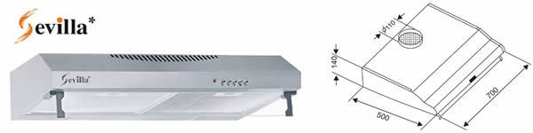 Máy hút khói Sevilla 68I - Siêu thị vật tư nội thất giá tốt