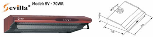 Máy hút khói Sevilla 70WR - Siêu thị vật tư nội thất giá tốt