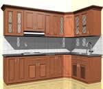 tủ bếp gỗ căm xe - Giá Tốt eNoiThat