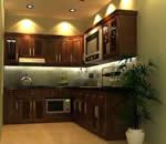 Tủ bếp gỗ xoài Mỹ