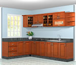 Tủ bếp gỗ xoan đào - Siêu thị vật tư nội thất giá tốt