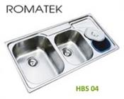 chậu rửa inox Romatek HBS04