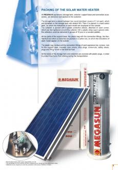 Bình Nước Nóng Mặt Trời Tấm Phẳng Megasun nhập khẩu - Bình tích hợp