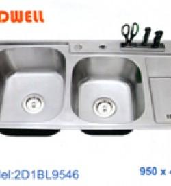 chậu inox Coldwell 2D1BL9546